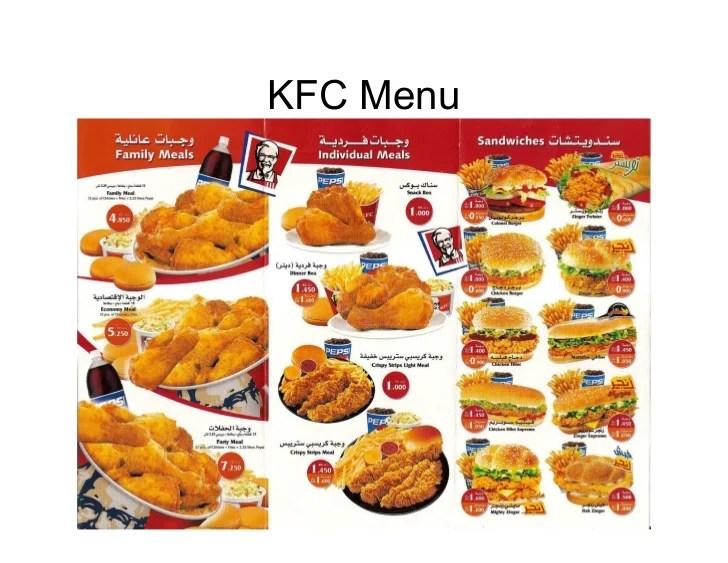 Kentucky Menu And Prices