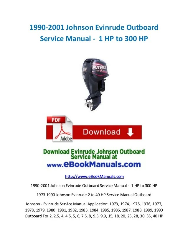 Force Outboard Ignition Wiring Diagram 1990 2001 Johnson Evinrude Outboard Service Manual 1 Hp