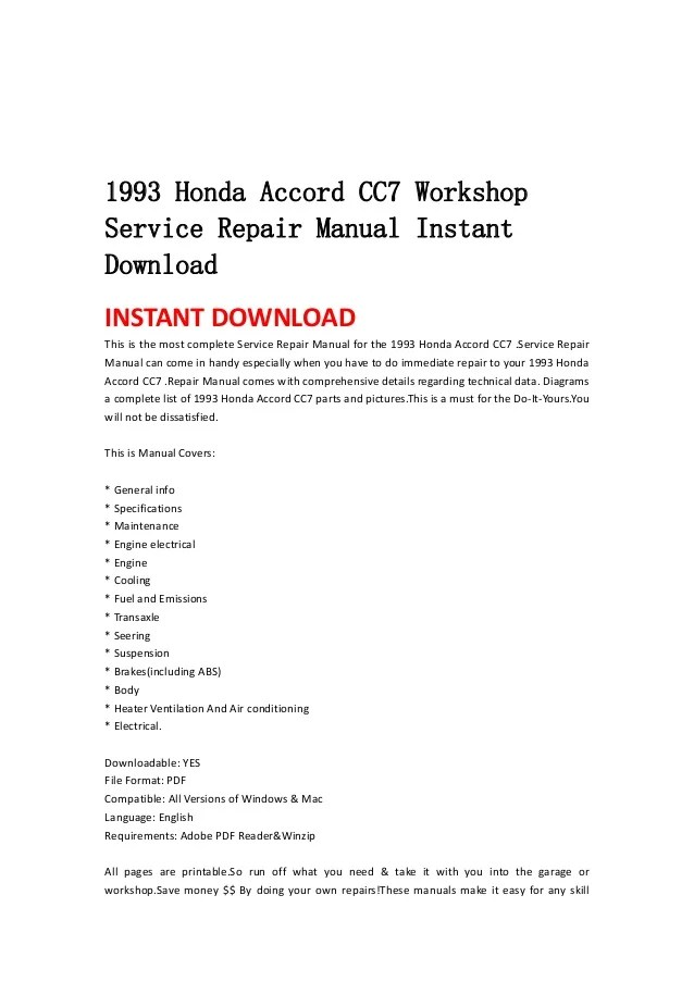 1993 honda accord parts diagram how to read a stem and leaf cc7 workshop service repair manual instant workshopservice instantdownloadinstant download this is the most complete