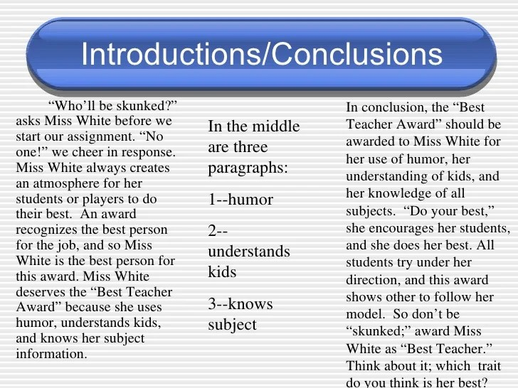 Introductions Conclusions