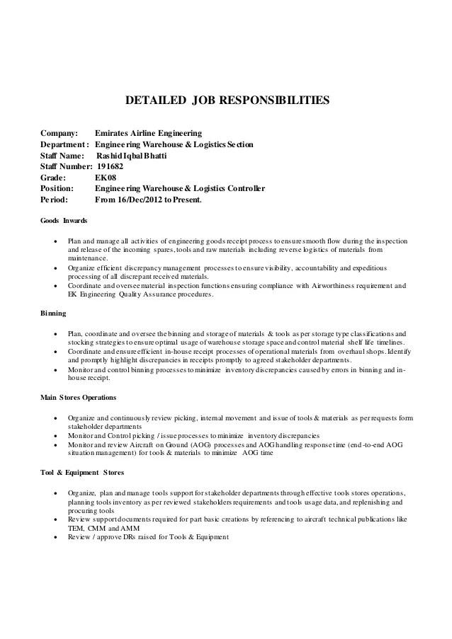 Career Timeline  Job Responsibilities