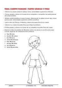 Extremidades Del Cuerpo Humano Para Colorear Charlas