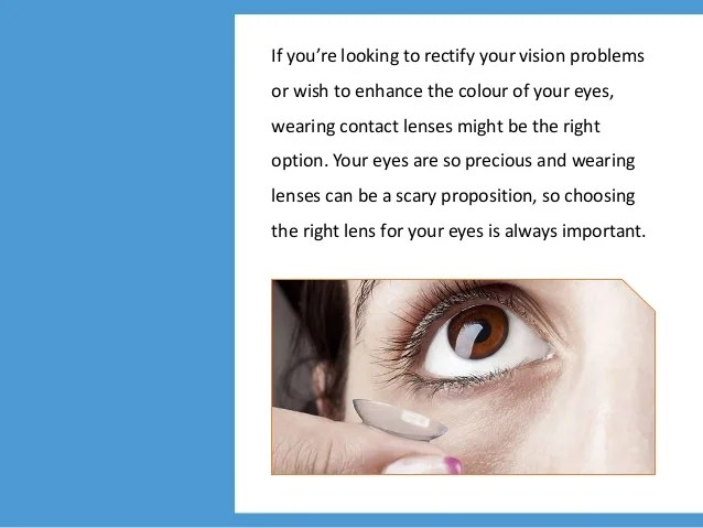 1 Day Contact Lens – Reasons to Buy Contact Lenses Online