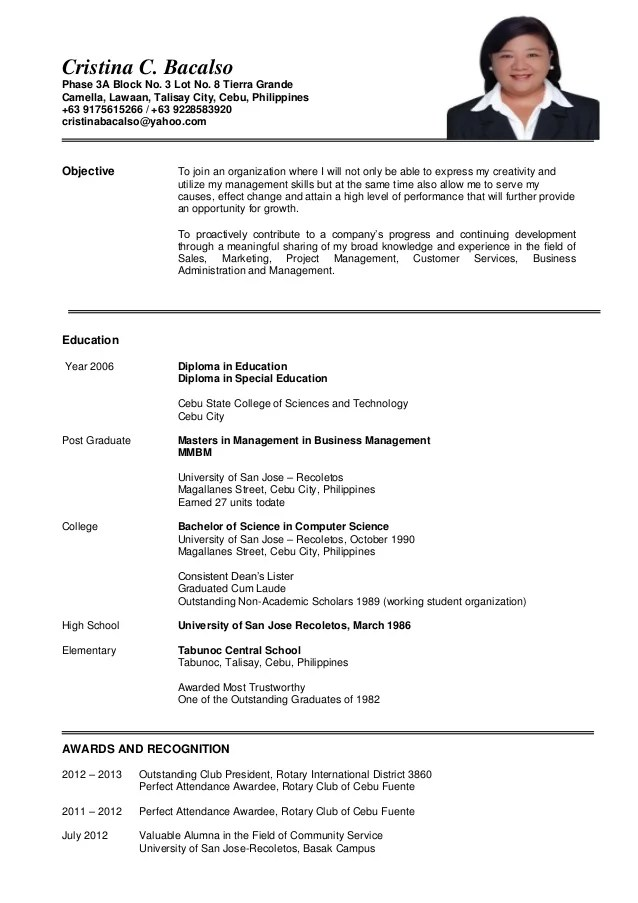 updated resume work immersion