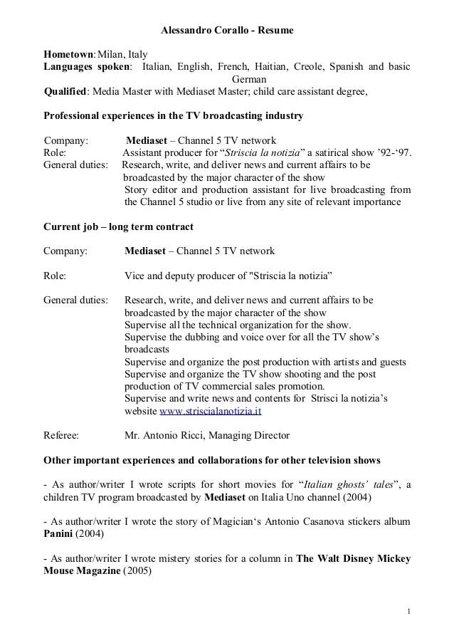 language skills cv pdf