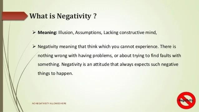 Presentation on Negativity