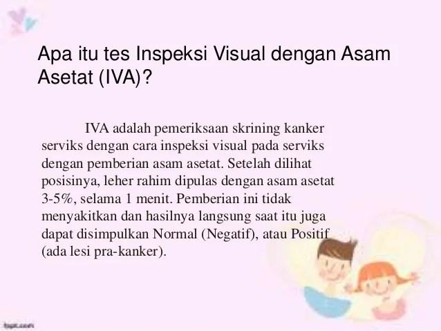 Inspeksi Visual Dengan Asam Asetat