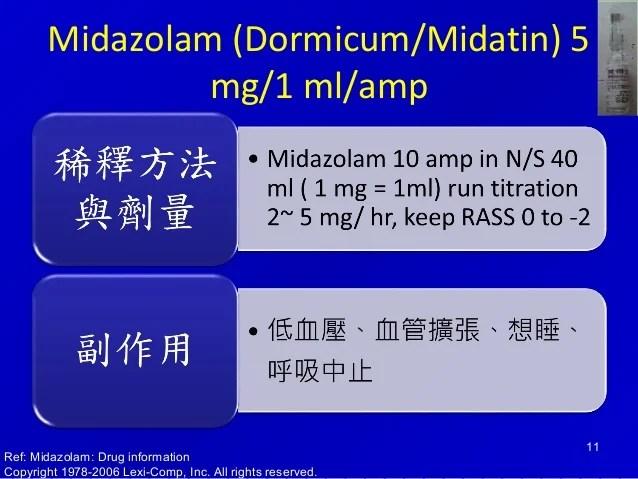 鎮靜劑和肌肉鬆弛劑2