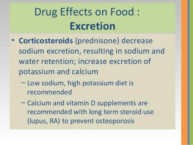 drug-food intractions
