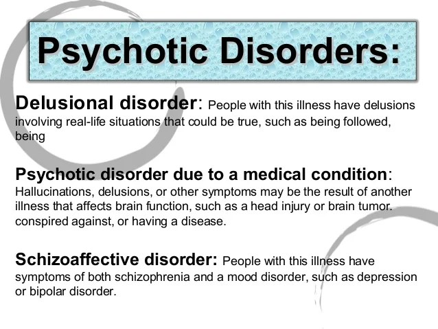 2 7 mental disorders