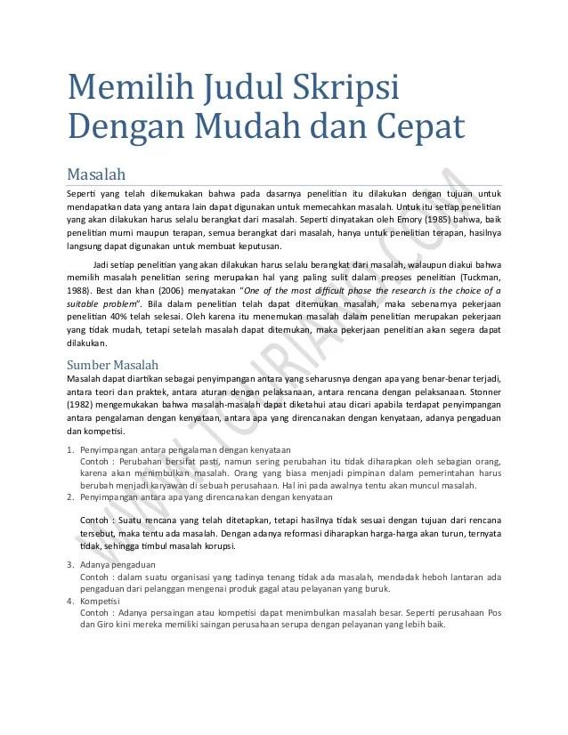 Contoh Judul Skripsi Akuntansi Manajemen 2 Variabel Cuitan Dokter