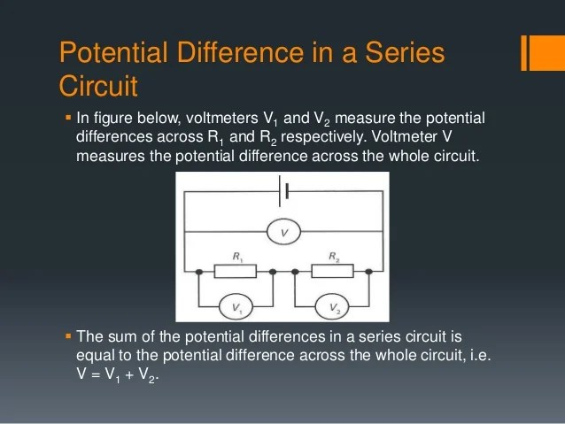Potential Difference Across A Resistor In A Series Dc Circuit