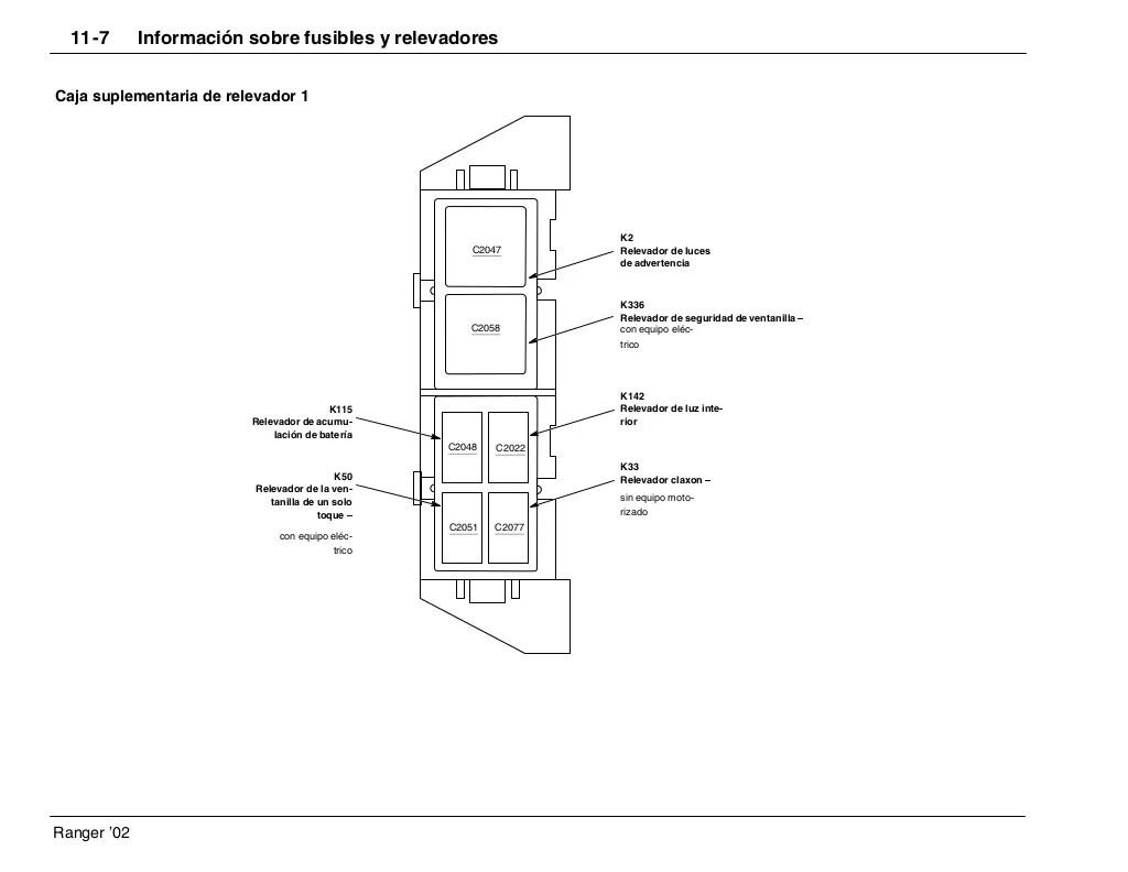 diagramas electricos ford ranger