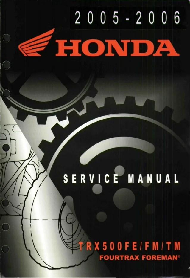 2005 Honda Recon Owners Manual