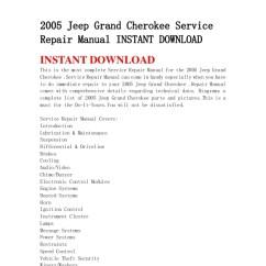 2005 Jeep Grand Cherokee Parts Diagram Neutrik Xlr Wiring Service Repair Manual Instant Download Servicerepair Downloadinstant Downloadthis Is The Most Complete Man