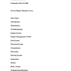 2006 Can Am Outlander 650 Wiring Diagram Elodea Leaf Cell Max Series Service Repair Workshop M Xt 800outlander 800service Manual