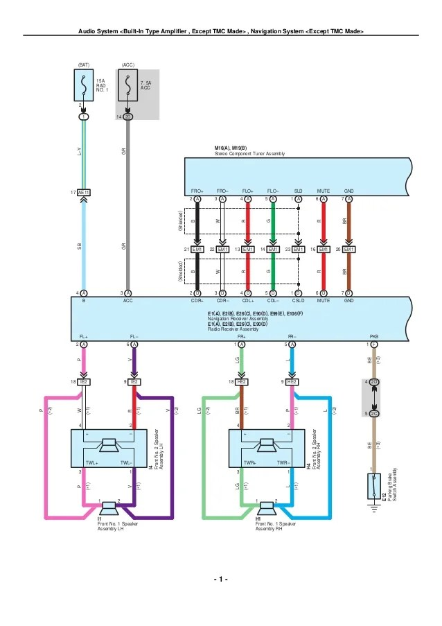 system wiring diagrams toyota pioneer diagram for car stereo 2009 2010 corolla electrical 23