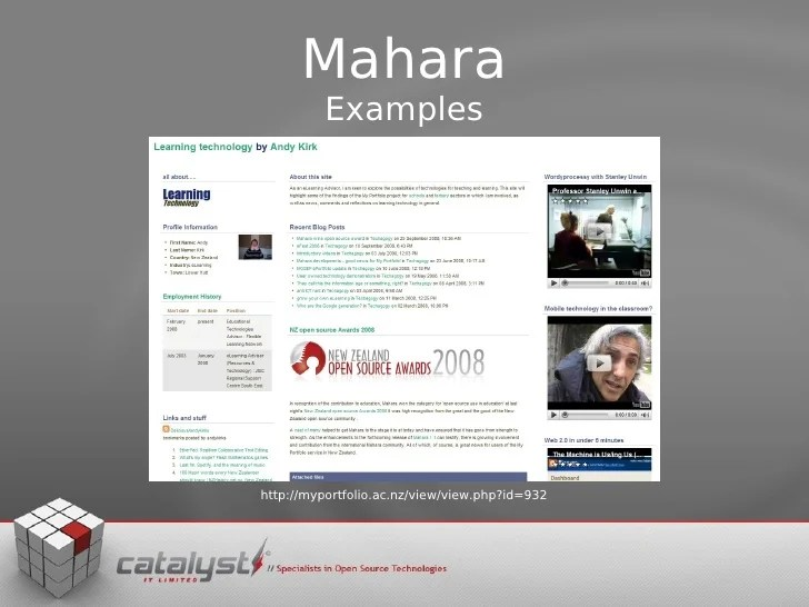 EPortfolios And Mahara