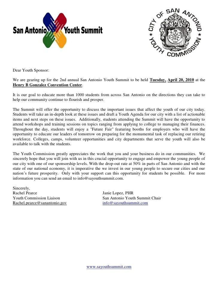 2010 Final Sponsor Level Letter Sayc