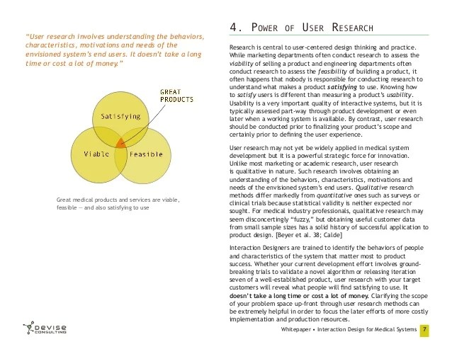 Interaction Design For Medical Systems Whitepaper