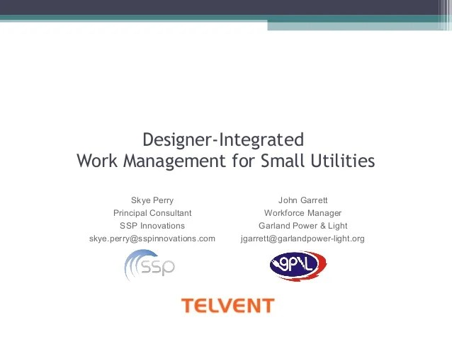 GISIntegrated Work Management for Utilities