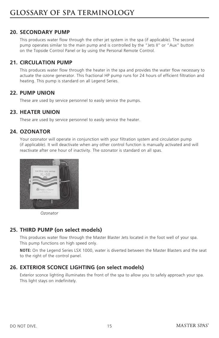 hight resolution of master spa legend owner s manual hot tub 220v wiring diagram master spas wiring diagram