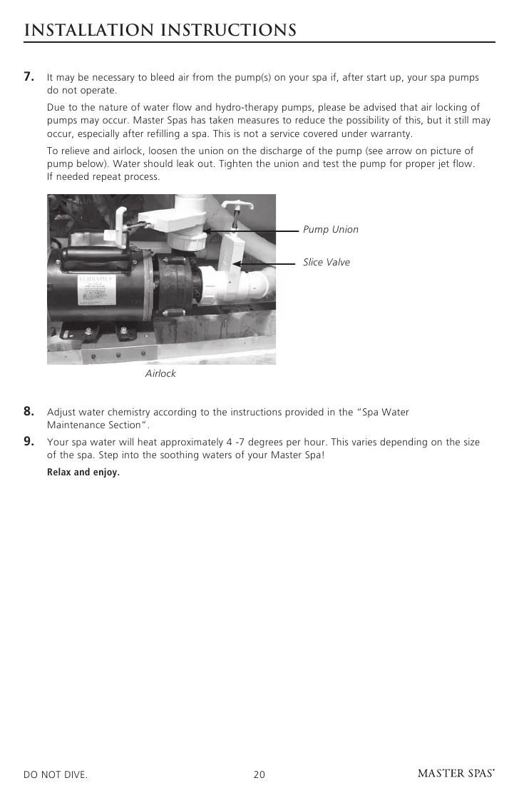 medium resolution of master spa legend owner s manual rh slideshare net spa wiring diagram balboa spa wiring