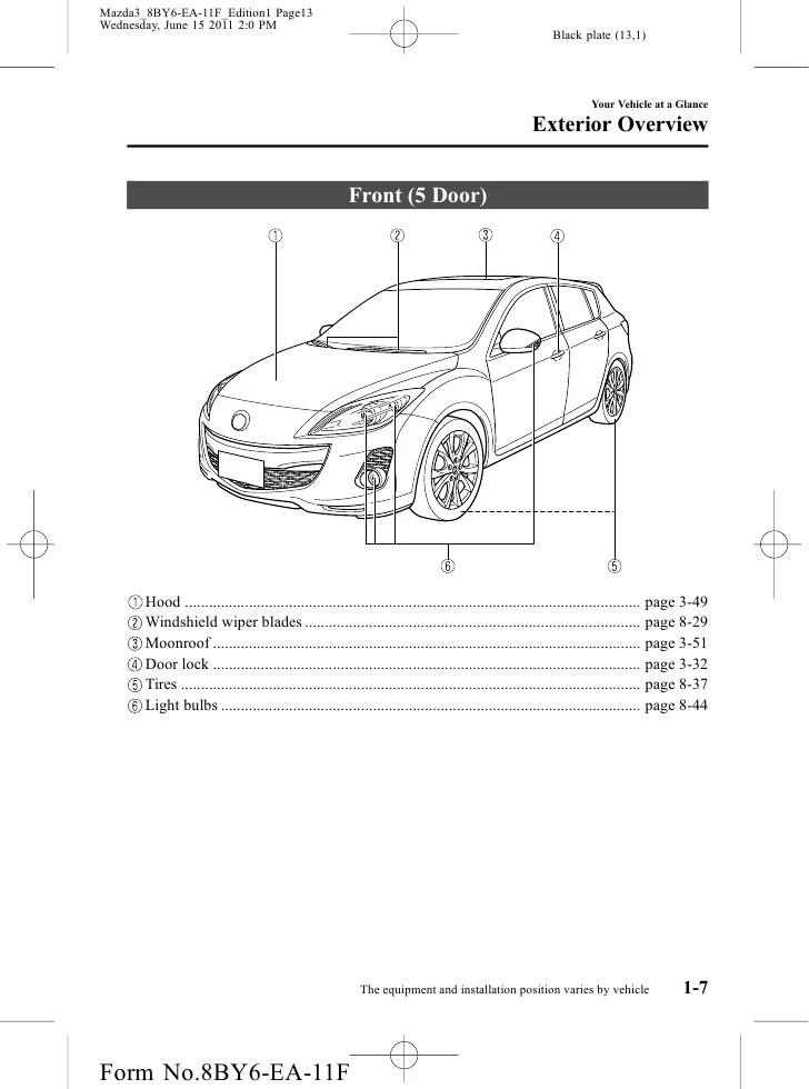 Mazda 3 Wiper Wiring Diagram Wiring Data