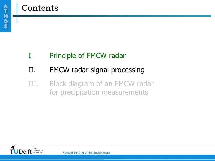 fmcw radar block diagram 1995 ford ranger xlt stereo wiring principle of environment 11 at contentsmos i