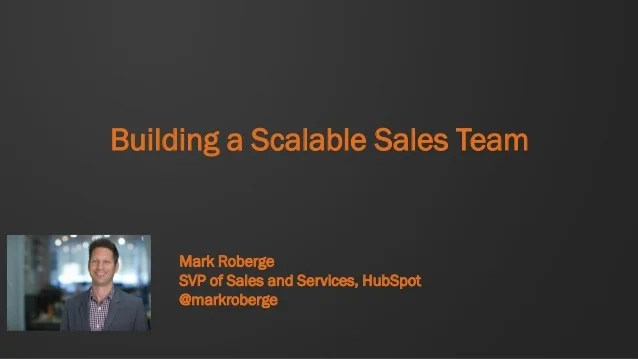 Building A Scalable Sales Team