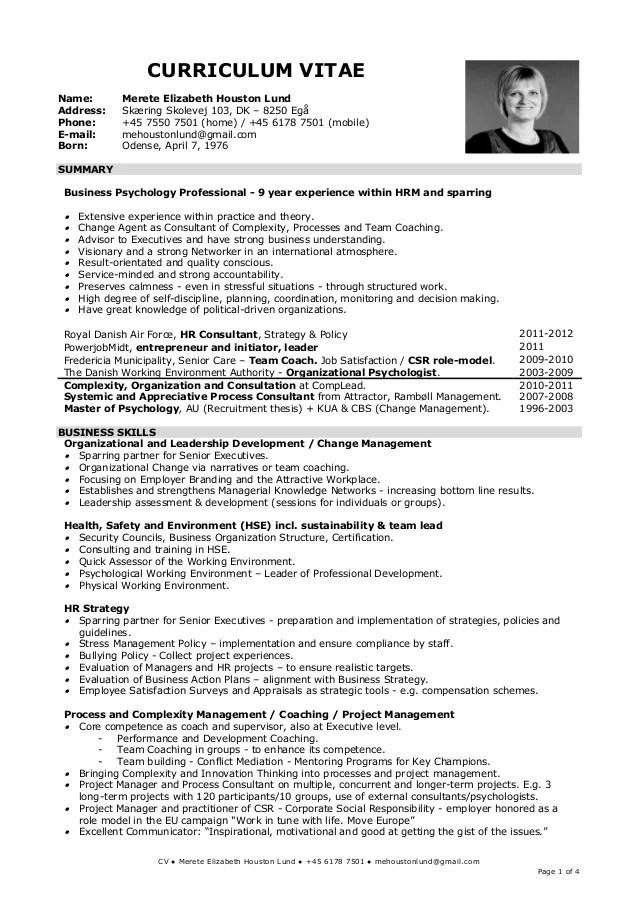 20130408 Eng CV Merete EHL