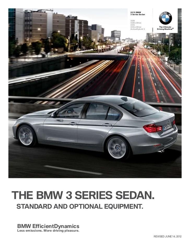 2013 Bmw 335i M Sport Specs : sport, specs, Series, Sedan, Specs