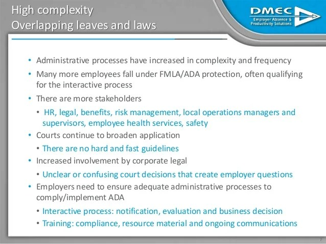 The Impact of FMLA and ADA Compliance on Employers