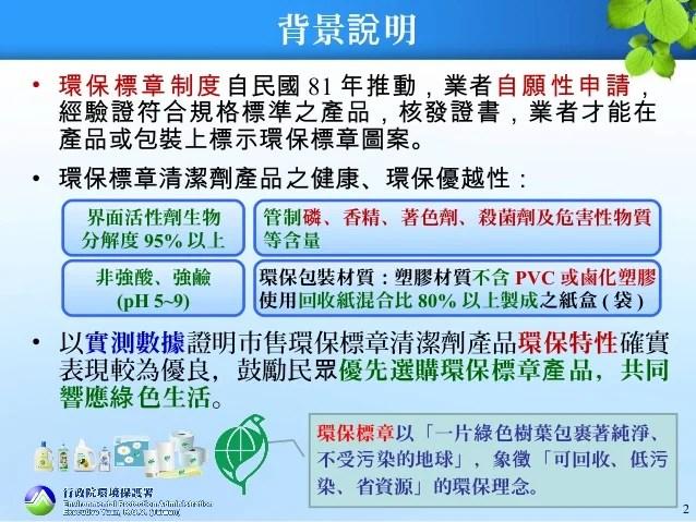 環保署公布市售清潔劑檢測結果 環保標章產品勝出