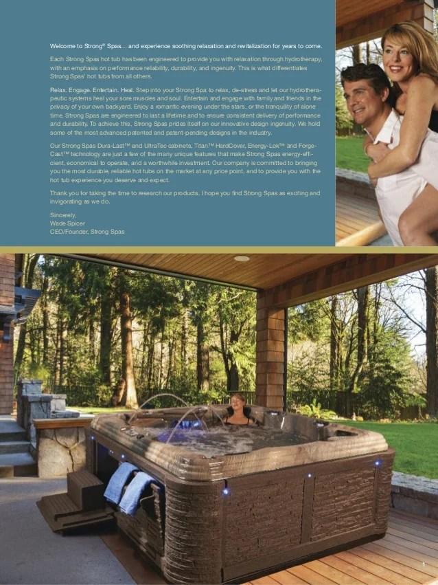 strong spas comprehensive brochure