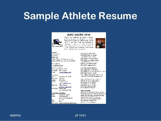 sample resume for college athlete