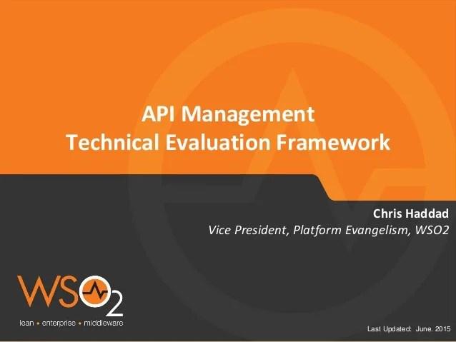 API Management Platform Technical Evaluation Framework