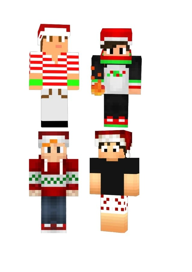 2015 new minecraft christmas skin download for boys and girls