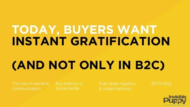 Instant Customer Gratification