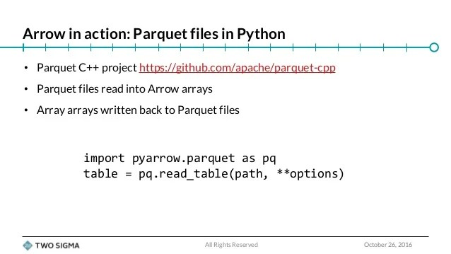 Apache Arrow Python