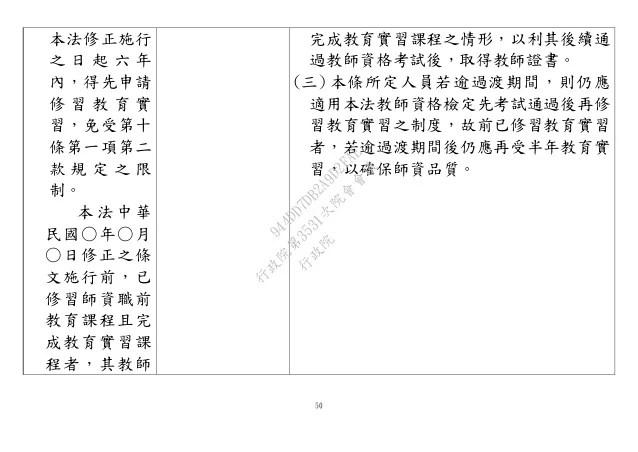 教育部:「師資培育法」修正草案