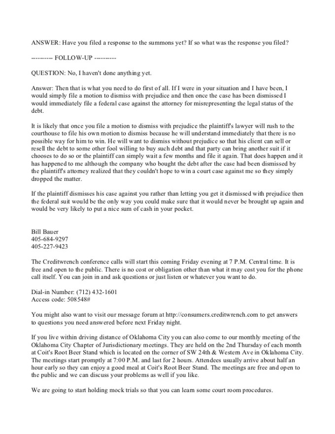 Civil summons for credit card debt howtoviews debt summons response letter sample textpoems org spiritdancerdesigns Gallery