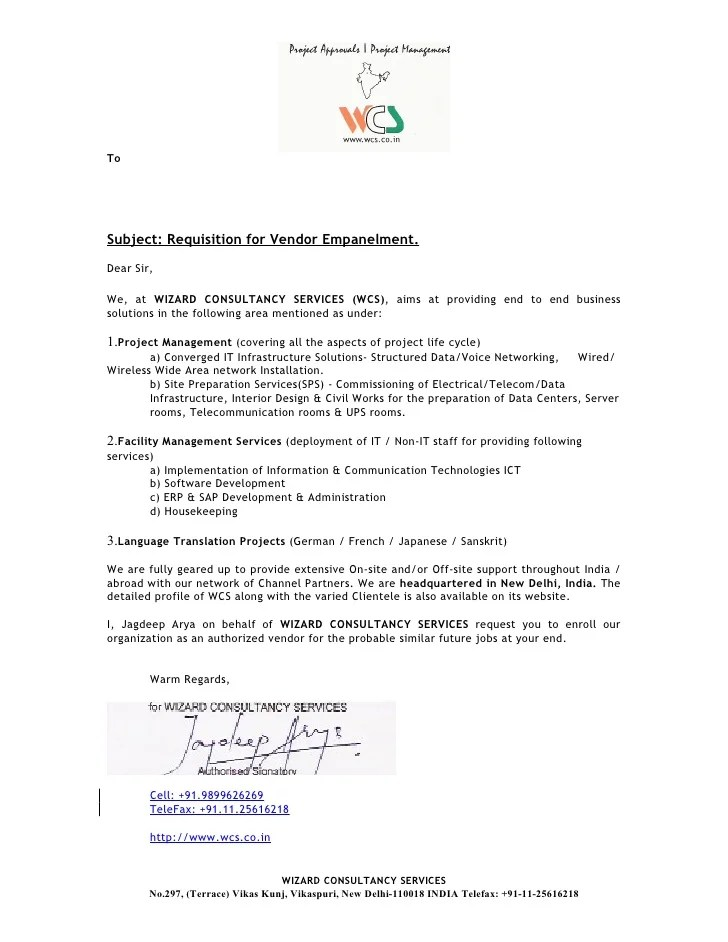20 Company Introduction Cover Letter For Profile Booklet