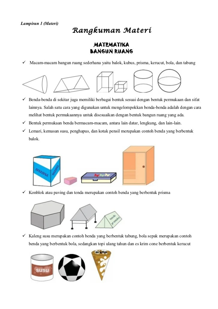 Contoh Benda Yang Berbentuk Bola : contoh, benda, berbentuk, Contoh, Benda, Bangun, Ruang, Rumah, Berbagai