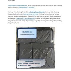 Harga Atap Baja Ringan Dan Genteng Beton Wa Telp 082186148884 Biaya Press Distributor Wuwung