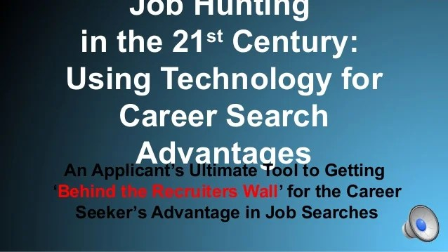 21st Century Job Hunting Power Building Resumes With Pre