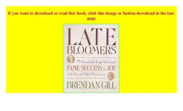 Late Bloomers P.D.F_book