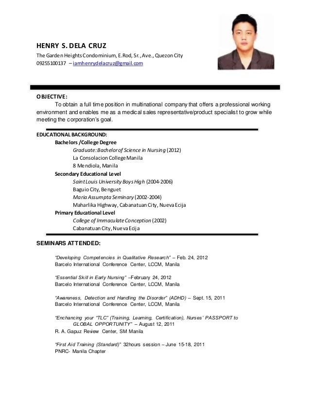 Resume HENRY