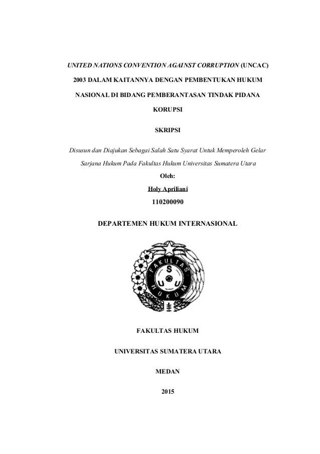 Contoh Skripsi Hukum Pidana Korupsi Cute766