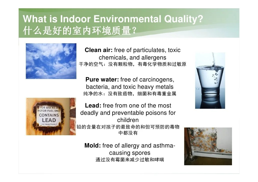 Managing Indoor Environmental Quality For Green Building